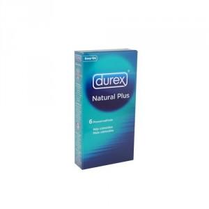 PROFILACTICO DUREX NATUR/PLUS 6 U