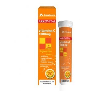 VITAMINA C 1000MG + ZINC ARKOVITAL COMP EFERVES 20 COMP
