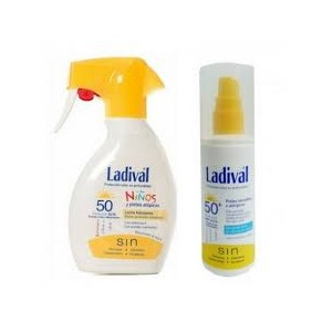 LADIVAL NIÑOS PACK 50 ML + SPRAY 50+