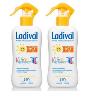LADIVAL PACK DUO NIÑOS FPS 50+ SPRAY 200 ML