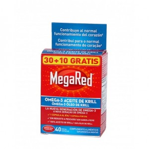 MEGARED 500 OMEGA 3 ACEITE DE KRILL 30 CAPSULAS + 10 CAPS