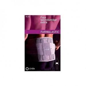 FAJA SACROLUMBAR FARMALASTIC EXTRA GRIS CONTORNO 118 CM T- 4